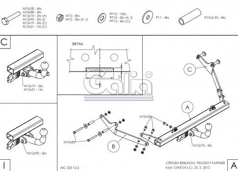 Схема за монтаж на теглич за Toyota